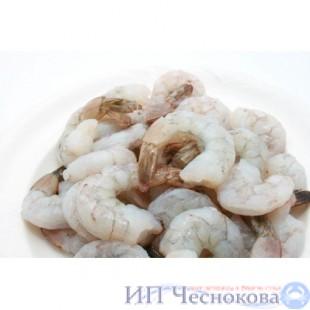 Креветки ТИГРОВЫЕ очищеные на хвосте по 1 кг